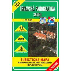 151. Nagyszombat környéke turista térkép VKÚ 1:50 000