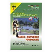 PCM 9. Gemer, Novohrad, Podpolanie kerékpáros térkép  1:100 000 VKÚ 9.