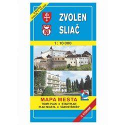 Zólyom térkép, Zvolen VKÚ 1:10 000  Mapa Mesta