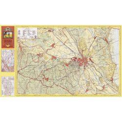 Soproni-hegység falitérkép antik, faximile 1931 HM 1:25 000  105x61