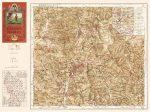 Karancs-Medves térkép antik, faximile 1930 HM 1:10 000 63x46