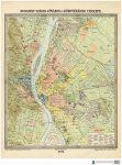 Budapest Székes-Főváros és Környéke térkép (1906) Budapest falitérkép antik Homolka 66x89 cm  1:20 000