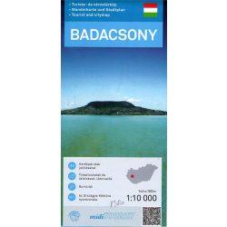 Badacsony térkép, Badacsony turista és várostérkép Térképskála 2015  1:10 000