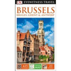 Brussels, Brüsszel Bruges, Ghent & Antwerp útikönyv DK Eyewitness Guide, angol 2017