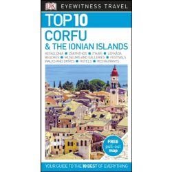 Corfu útikönyv Corfu & the Ionian Islands Top 10  DK Eyewitness Guide, angol 2018