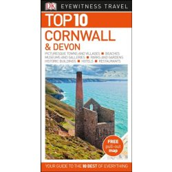 Devon & Cornwall Top 10 Devon útikönyv DK Eyewitness Guide, angol 2018.03.