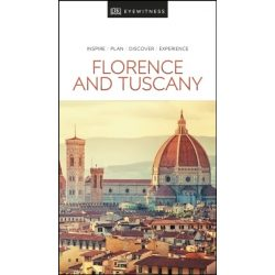 Florence Tuscany Firenze Toszkána útikönyv DK Eyewitness Guide, angol 2019, Firenze útikönyv