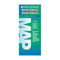 North Dakota, South Dakota térkép Rand M
