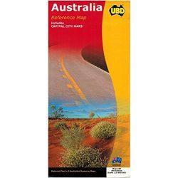 Ausztrália térkép UBD