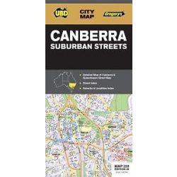 Canberra térkép Universal Publishers 2014 UBD State Maps 1: 25 000