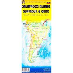 Galapagos térkép ITM 1:800 000