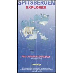 Spitsbergák térkép, Spitsbergen térkép 1 : 1000 000   2001