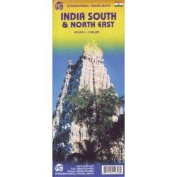 Dél és Észak-Kelet India térkép ITM 1:2 300 000