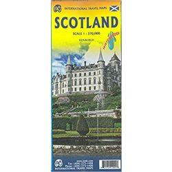 Skócia térkép ITMB 1:370 000  Scotland térkép 2017