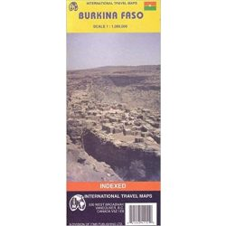 Burkina Faso térkép ITM 1: 1 000 000