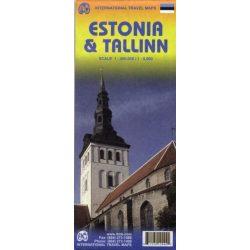 Észtország térkép ITMB  1:400 000, 1:8000 Estonia / Tallinn térkép