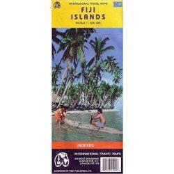 Fidzsi szigetek térkép ITM 1:525 000 Fiji Islands térkép Fiji szigetek