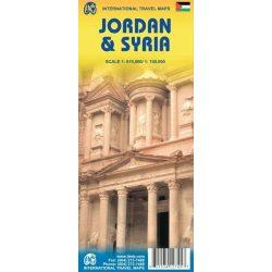 Jordan, Szíria térkép ITM 2010 1:610 000, 1:740 000