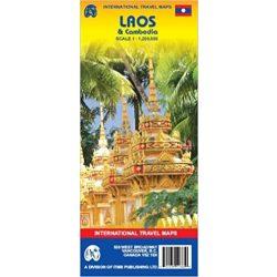 Kambodzsa, Laos térkép ITM  1:200 000
