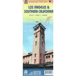 Los Angeles térkép Los Angeles, Dél-Kalifornia térkép 2016 ITMB 1:15 000, 1:1 Mio