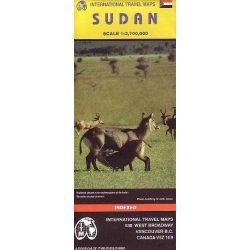 Sudan térkép, Szudán térkép ITM 1:2 700 000