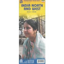 India észak és nyugat térkép ITM 1:1 900 000
