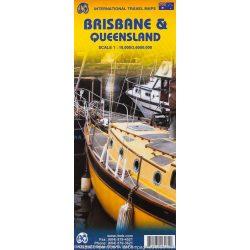 Brisbane térkép ITMB 1:10 000, Brisbane & Queensland térkép 1:3600 000