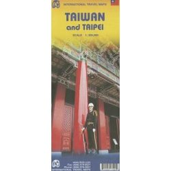 Taiwan térkép ITM 1:386 000  Taipei várostérkép