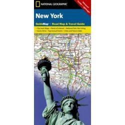 New York állam térkép National Geographic New York térkép 2016