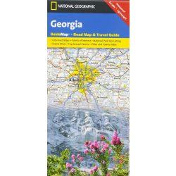 Georgia térkép, Georgia állam National Geographic, Grúzia térkép