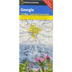 Georgia térkép, Georgia állam National Geographic