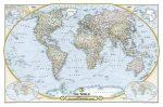 Világ országai falitérkép  politikai színezésű National Geographic 117x76