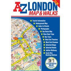 London térkép AZ kiadó 2018 1:22 000 Teljes London várostérkép - Map and Walks sétáló térkép