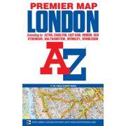 London Premier Map. London térkép AZ kiadó 2017 1:22 000 Teljes London várostérkép