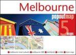 Melbourne térkép Popout kosártérkép belváros