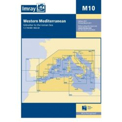 Imray Chart M10 : Western Mediterranean - Gibraltar to the Ionian Sea