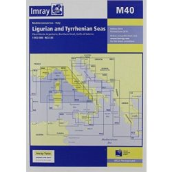 Imray Chart M40 : Ligurian and Tyrrhenian Sea
