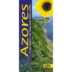 Azori-szigetek útikönyv Sunflower Books 5 car tours, 60 long and short walks , Azores útikönyv, Azori útikönyv 2018 angol