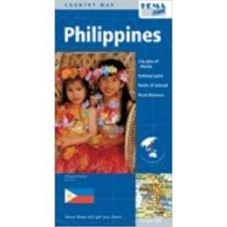 Fülöp-szigetek térkép Philippines térkép Hema 1:1 750 000