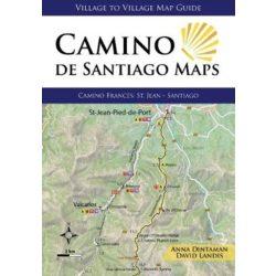 Camino de Santiago Maps : Camino Frances: St. Jean - Santiago 2018 angol Camino könyv, térképek