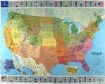 USA falitérkép Michelin fóliázott politikai színezésű 1:3 450 000 144x100