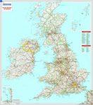 Nagy-Britannia falitérkép fóliázott Michelin 1:1 000 000 88x100 cm