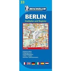 33. Berlin térkép Michelin 1:22 000  Berlin várostérkép 2017