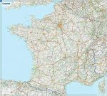 Franciaország falitérkép fóliázott Michelin 1:1 000 000 100x111 cm