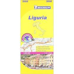 352. Liguria térkép Michelin 2015 1:200 000