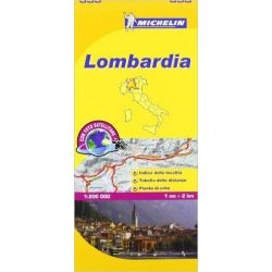 353. Lombardia térkép  Michelin 1/200,000
