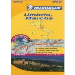 359. Umbria térkép Michelin 1: 200 000