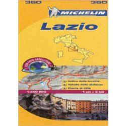 360. Lazio térkép Michelin 1:200 000