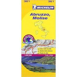 361. Abruzzo, Molise térkép Michelin 1:200 000