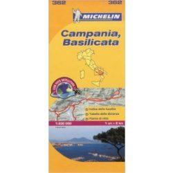 362. Campania, Basilicata térkép Michelin 2013 1:200 000